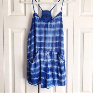 Hot & Delicious Blue Tie Dye Romper
